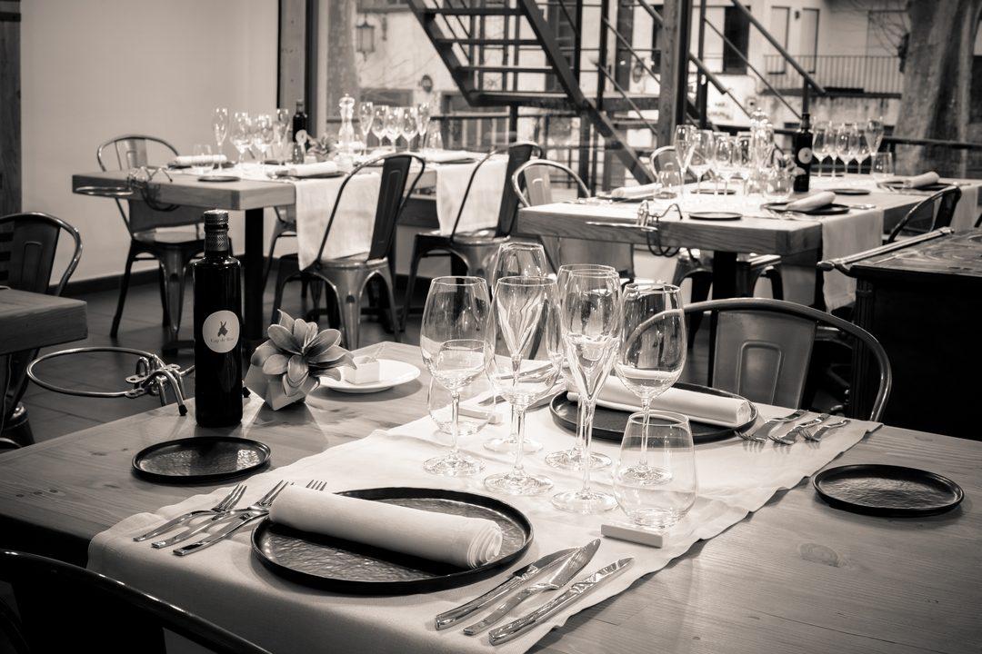 interior del restaurant de Cornudella dedicat al maridatge