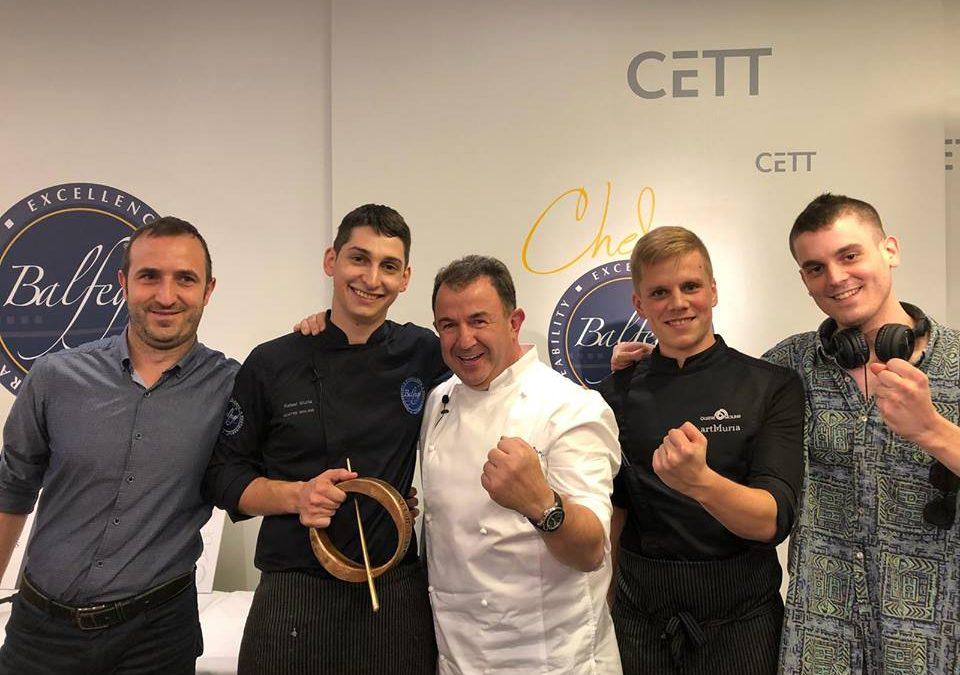 Rafel Muria campeón del Concurso de Cocina Profesional Chef Balfegó